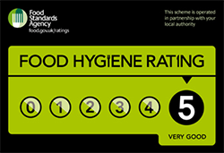 Food Hygiene Rating of 5